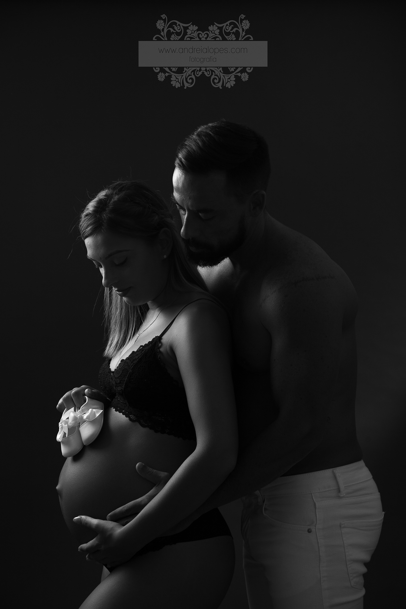 Sessão de grávida em Estúdio em Loulé - Algarve
