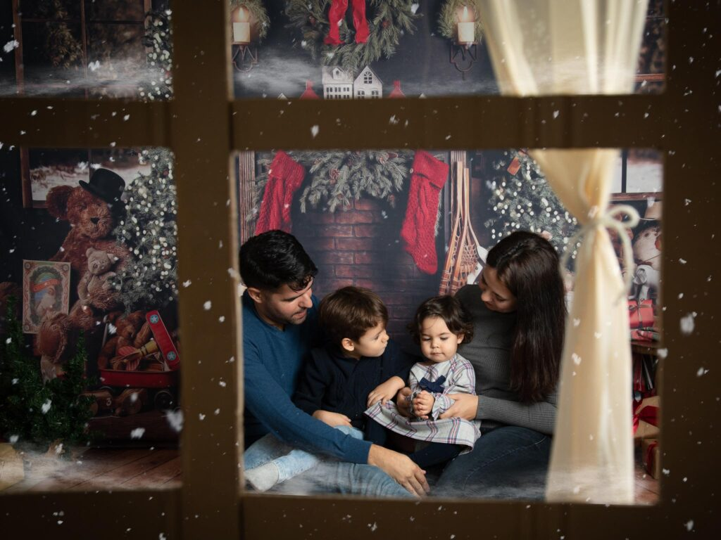 Sessão fotográfica familia natal estudio loule faro algarve